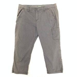 Eddie Bauer Cotton Chino Capri Pants 18